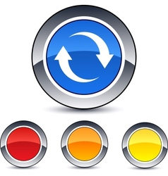 refresh round button vector image
