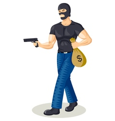 robber cartoon vector image