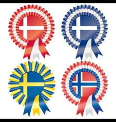 rosettes to represent northern european countries vector image
