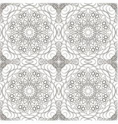 seamless coloring mandala pattern seamless vector image