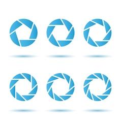 Segmented circle signs vector