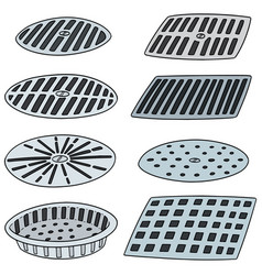 Set of cover the drain vector