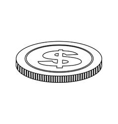 Single coin icon image vector