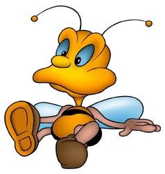 Sitting Honeybee vector image