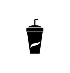 soda icon emblem isolated on white background vector image