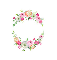 Spring and summer floral frame for decoration vector