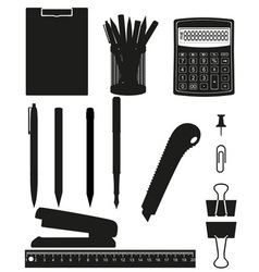 stationery set 03 vector image