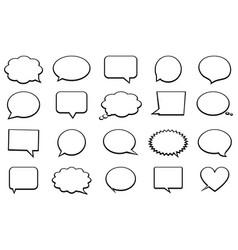 stickers of speech bubbles set vector image