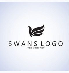 swans logo ideas design on vector image