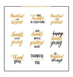 Thanksgiving text set vector
