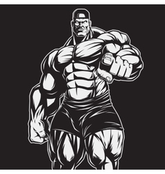 The coach of bodybuilding and fitness vector
