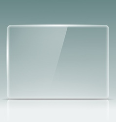 Transparent glass screen vector image