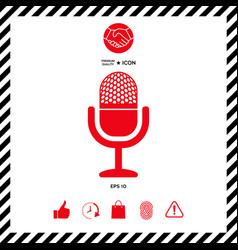vintage microphone icon vector image