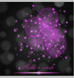 Violet lights concept abstract on black ambient vector