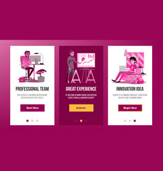 Web page banners design business graphic vector
