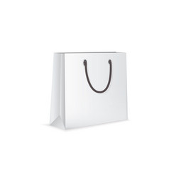 White paper bag isolated on white background vector