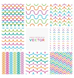 set of colorful seamless patterns vector image vector image