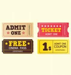 vintage cinema tickets vector image