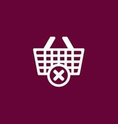cart icon online shopping simple vector image