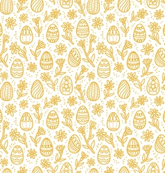 Decorative Easter gold eggs seamless pattern vector image