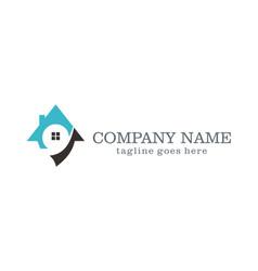 House unique realty company logo vector