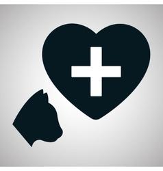 Pet shop design animal icon care concept vector image vector image