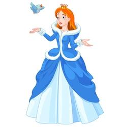 Princess and Bird vector image vector image