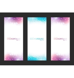 Set of Isolated Blurred Backgrounds vector image vector image