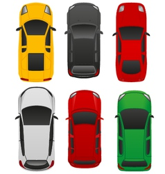 top car view v1 vector image vector image
