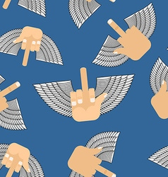 Winged seamless pattern Background for vector image vector image