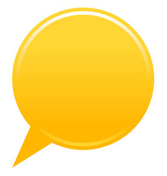 blank map pin yellow app icon vector image