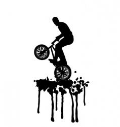 BMX jump vector image