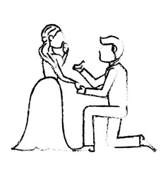 couple wedding love image sketch vector image