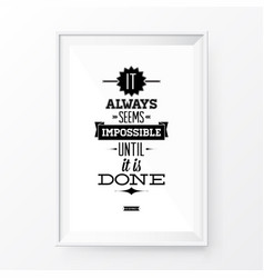 quote poster frame vector image vector image
