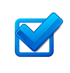 Blue check box vector image