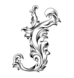 Calligraphic design element vector image vector image