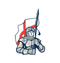English Knight England Flag Retro vector image vector image