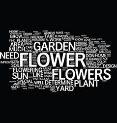 Great flower garden design simple steps part text vector