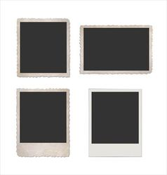 Retro photo frame set vector image