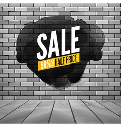 Super sale wall poster Grunge sale background for vector image vector image