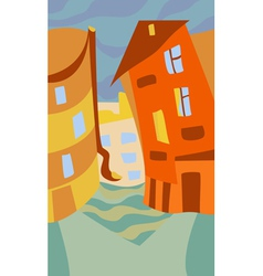 TheStreetOfSmallTown vector image