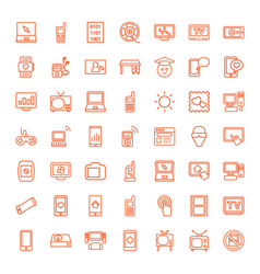 49 screen icons vector image