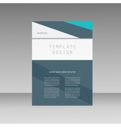 Annual report business brochure template Cover vector image