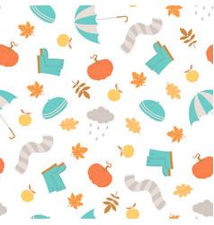 autumn seamless pattern rainy season vector image