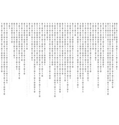 Binary code background falling streaming vector