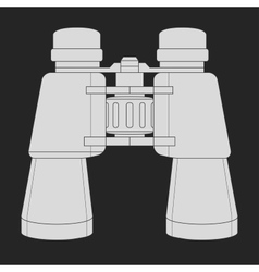 Binoculars icon Chalk vector