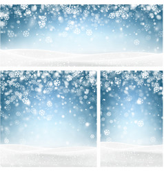 Blue winter backgrounds with snowflakes vector