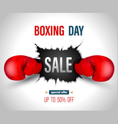 Boxing day sale vector