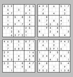 Brain trainer sudoku set vector