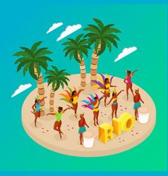 brazilian carnival concept vector image